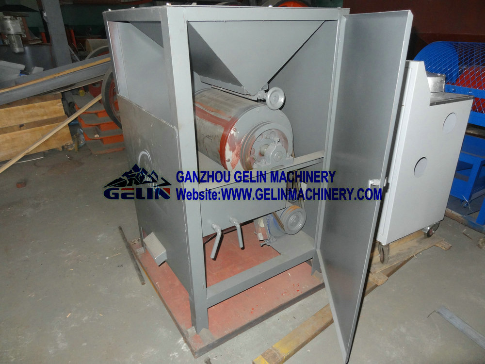 Small dry type magnetic separator