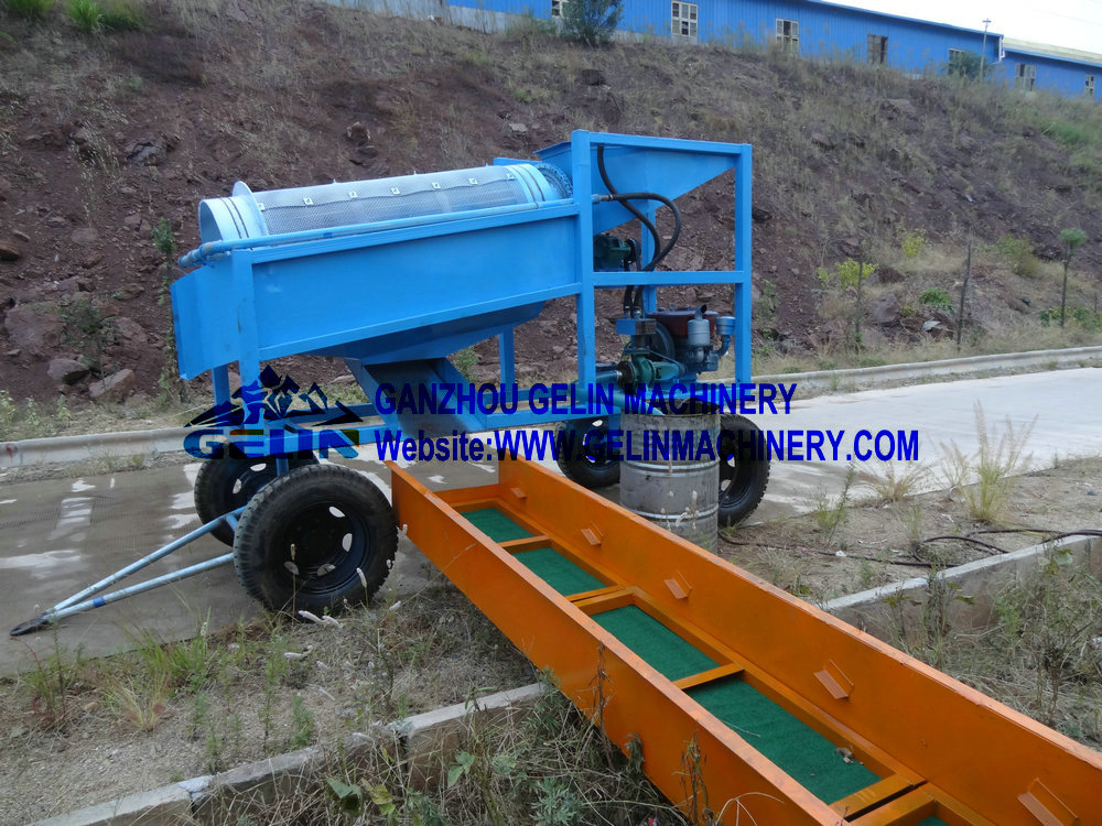 Mobile diamond washing plant