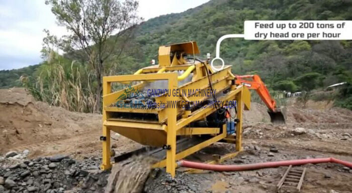 Fix type vibrating washing plant