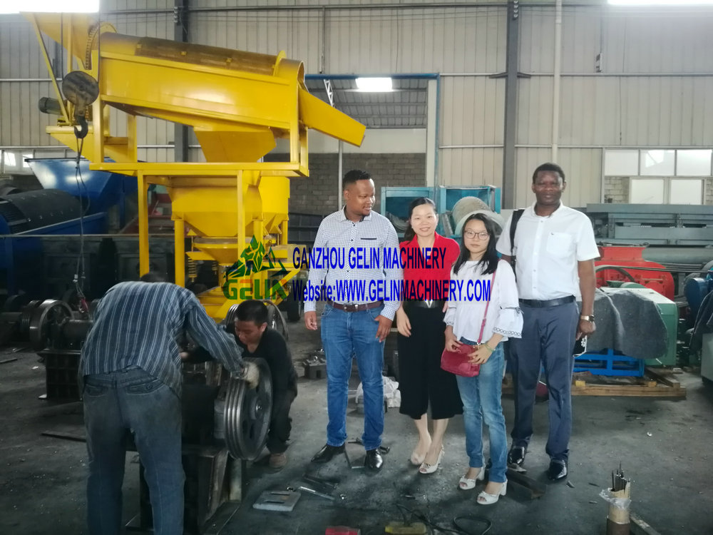 South Africa customer inspect mining machine in our factory